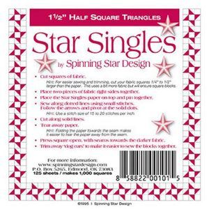 Spinning Star Design - Star Singles 1.5in