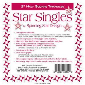 Spinning Star Design - Star Singles 2.0in
