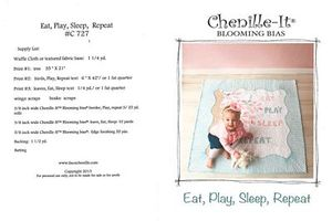 Chenille-It CH727 Eat, Play, Sleep, Repeat