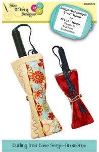 Sue O'Very Designs Curling Iron Case Serge-Broidery Pattern