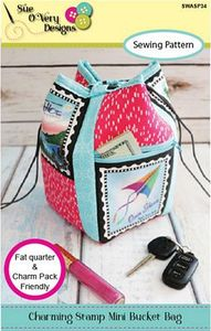 Sue O'Very Designs Charming Stamp Mini Bucket Bag Pattern