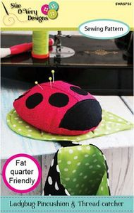 87847: Sue O'Very Designs SWASP35 Ladybug Pincushion and Thread Catcher