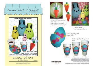 Sue O'Very Designs Easter Gifts in the Hoop Mug Rugs Mug Mats Pattern
