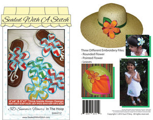 Sue O'Very Designs 3D Summer Flowers In The Hoop
