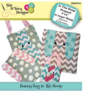 87852: Sue O'Very Designs SWAST43 ITH Bunny Bag