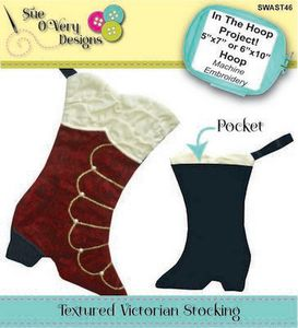 Sue O'Very Designs Textured Victorian Stocking Pattern