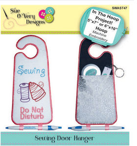 Sue O'Very Designs Sewing Door Hanger In The Hoop