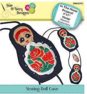 87879: Sue O'Very Designs SWAST51 ITH Nesting Doll Case