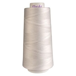 78302: Maxi Lock 51-32109 White 3000 Yard Poly Thread for Sewing Serging Quilting