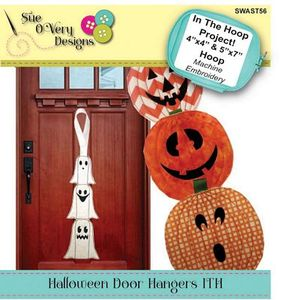 Sue O'Very Designs Halloween Door Hangers In The Hoop