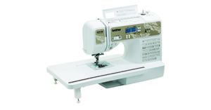 Brother SQ9185,  012502635901, 130 Stitch Computer Sewing Quilting Machine, Block Font, Wide Ext Table, 8 Buttonholes, Start/Stop, Speed Control, Threader, Drop Feed