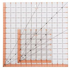 "Fiskars Ruler Easy to Read 8.5"" X 8.5"" Square"