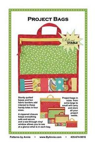 56865: Sewing Patterns By Annie PBA206 Zippered Project Tote Bags