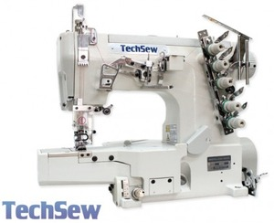 Techsew T450 Coverstitch Industrial Sewing Machine,Power Stand, Servo Motor, Lamp