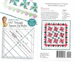 Quilt in a Day QD2043 4-1/2 Triangle Square-Up Ruler