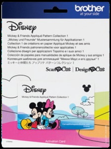 88411: Brother CADSNP03 Disney Mickey & Friends Applique Patterns for Scan N Cut Canvas