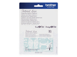88410: Brother CATTLP04 Tattered Lace Pattern Collection #4 for Scan N Cut