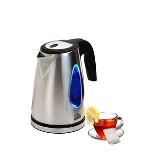 62533: Elite Platinum EKT-1271 1.7-Liter Cordless Electric Kettle, Stainless Steel