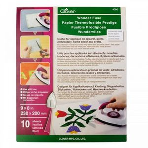 88704: Clover CL4090 Wonder Fuse Paper Backed Fusible Web Fabric