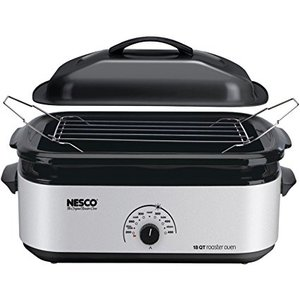 62607: Nesco 4818-47 18-Quart 1425 Wt. Silver Metallic - Porcelain Cookwell