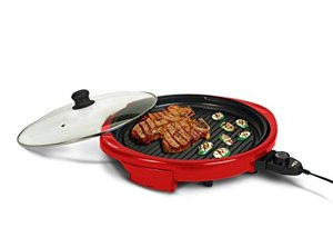 62538: Maxi-Matic EMG-980R Elite Gourmet Electric Indoor Grill, 14-Inch, Red