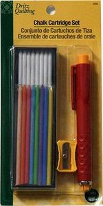88737: Dritz D3095 9 Chalk Color Cartridge Set with Chalk Pencil