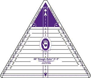 """Marti Michell 8037-9 60d Triangle Ruler 3-9"""""""