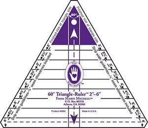 Marti Michell 8037-6 60d Triangle Ruler 2-6in