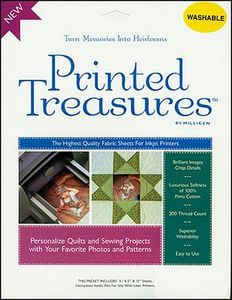 Milliken Printed Treasures 7279A Bulk 50 Fabric Sheets for Inkjet Printers