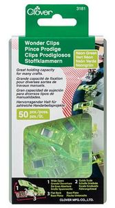 Clover CL3181 Wonder Clips Neon Green 50 pc