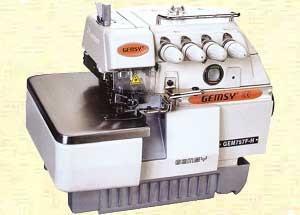 7667: Gemsy Jiasew 757F 2 Needle 5 Thread Safety Stitch Serger & Power Stand