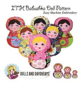 Dolls and Daydreams DD005 In The Hoop Babushka Doll Pattern