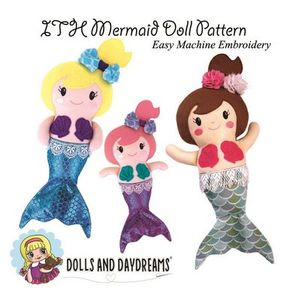 Dolls and Daydreams DD007 In The Hoop Mermaid Doll Pattern