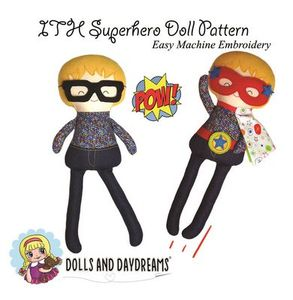 Dolls and Daydreams DD009 In The Hoop Superhero Doll Pattern