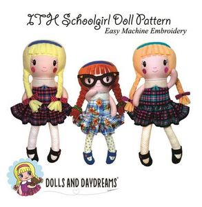 Dolls and Daydreams DD008 In The Hoop Schoolgirl Doll Pattern