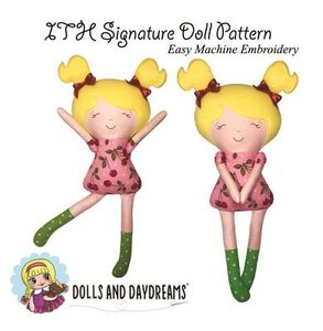 Dolls and Daydreams DD006 In The Hoop Signature Doll Pattern