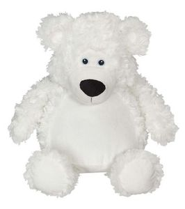 Creature Comforts EB11095 Bobby Buddy Bear, White with Stuffing Pods