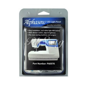 Alphasew P60570 Single Panel 30 Bulb LED Lamp Light Kit, self-adhesive panel and adjustable dimmer switch, attach to sewing machines