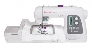 Singer Futura XL-550, 215-Stitch Sewing and Embroidery Machine with Automatic Electronic Thread Cutter