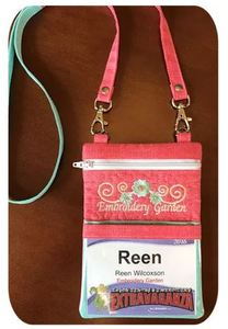 89882: Embroidery Garden EGEVBP Event Badge Pouch In the Hoop Design CD