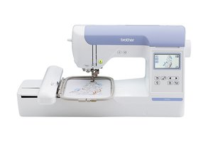 "PE800, Brother, PE800, pe-800, Designio, DZ820E, 5x7"", Embroidery, Machine, PE800, USB port only, Stick,  C Touch, Screen, Edit, Size, Density, Color, Format, Brother RPE800 Factory Serviced 5x7"" Embroidery Only Machine (PE770+) Plus Full Color LCD Touch Screen Display 136 Designs, 6 Fonts, USB Port Only"