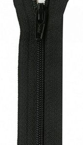 "YKK U20-22-580 art.322 Unique Invisible Zipper 22"" Long, Black"