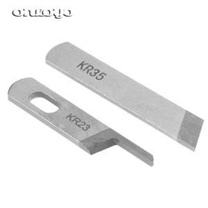 89928: Gemsy 737 747 757F Serger Lower and Upper Knife Cutting Blades. Change both at the same time.
