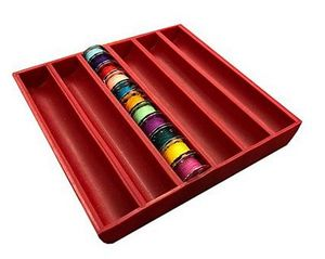 89943: Bobbinsaver 2 BS2-RED 66 Bobbins Holder Square Storage Tray