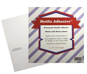 89945: Hotfix HFA6 Fusible Adhesive 6 sheets 12 x 12in Works with Home Cutters