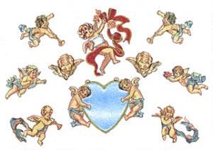 Balboa Threadworks 66E Cherub Collection 1 4x4 Embroidery Disks