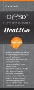 OESD HTG20-8 Heat 2 Go Specialty Clear Topper or Stabilizer Backing 8 Inch x 10 Yard Roll