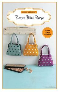 89965: Zakka Workshop ZW2293 Retro Mini Purse Kit, Pattern and Hardware