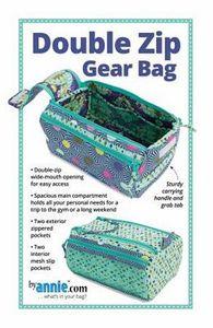 Patterns by Annie PBA257 Double Zip Gear Bags