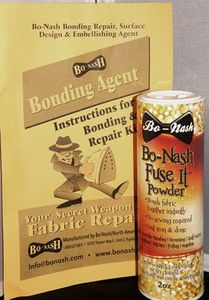 Bo Nash 7022 Magic Fuse It Powder 2oz, Fusible Bonding Agent, for Ironing Appliques and Quilt Basting using a Press Cloth